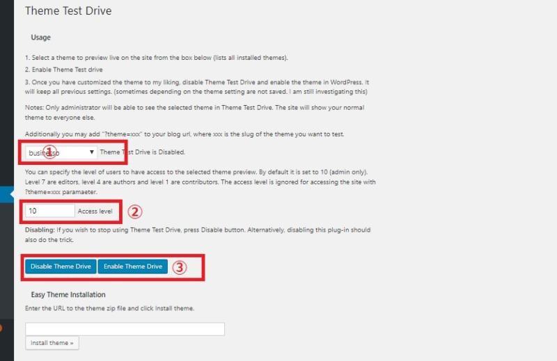 サイトの公開をしながら別のテーマの試用ができるプラグイン「Theme Test Drive」の画像|Knowledge Base